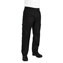 Pantalon Cargo slim noir Chefworks L