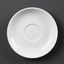 Soucoupes pour tasses a espresso blanches
