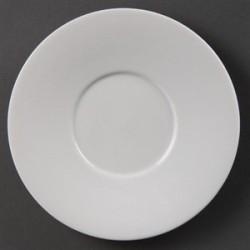 Soucoupes pour tasses elegantes blanches