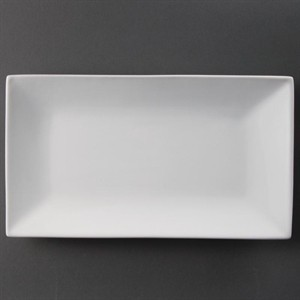 Assiettes rectangulaires a bord large 310 x 175mm Lumina