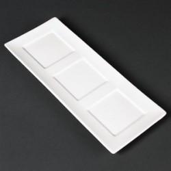 Plateaux en porcelaine fine 300 x 120mm Lumina