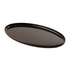 Petits plateaux ovales noirs