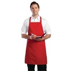 Tablier bavette tour de cou reglable Chef Works - Rouge