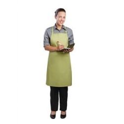 Tablier bavette tour de cou reglable Chef Works - Vert anis