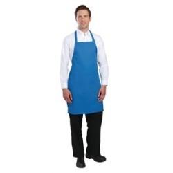 Tablier bavette tour de cou reglable Chef Works - Bleu