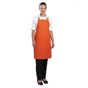 Tablier bavette tour de cou reglable Chef Works - Orange