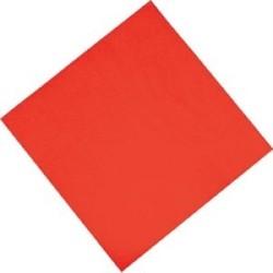 Serviettes en papier rouges - 330 mm - Fasana - Lot de 1500