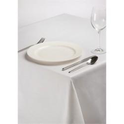 Nappe rectangulaire en polyester coton blanc uni pro Gastro