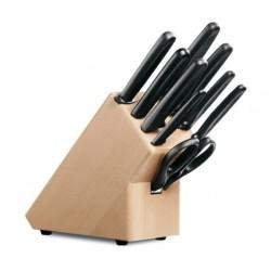 Bloc 9 couteau cuisine et accessoire victorinox noir