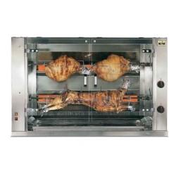 Rotissoire professionnel à poulets gaz, 8 broches/ 48 poulets, sur roues