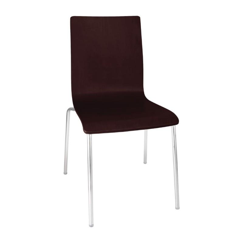 Chaise en bois marron papillon gastromastro group sas - Chaise en bois noir ...