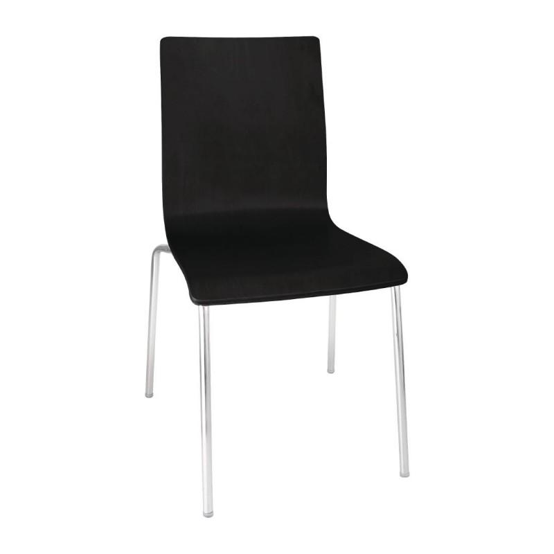 Chaise en bois noire papillon gastromastro group sas - Chaise en bois noir ...