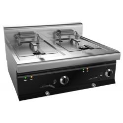 Friteuse professionnelle électrique   2 X10 Litres- 380v-18kw