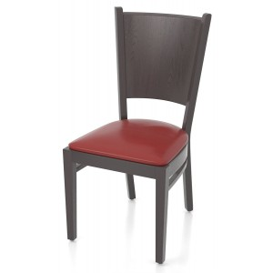 Chaises en simili cuir rouge