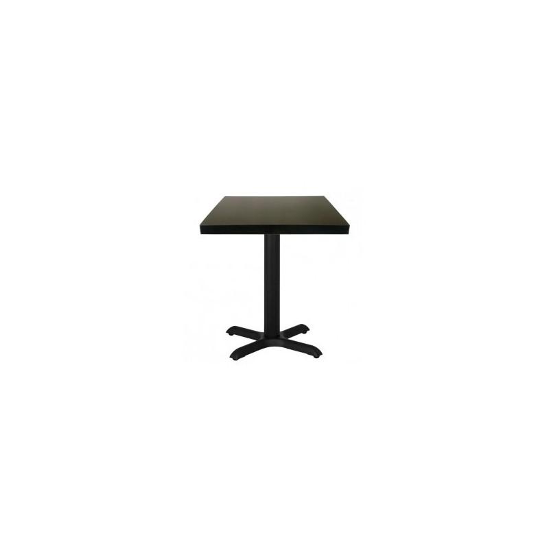 de avec GROUP carré de base restaurant Noir GASTROMASTRO Basse SAS 60 en Table Ø carré acier Table HYED92IW