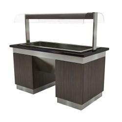 Buffet chauffant - Capacité 5 x GN 1/1- DESIGN