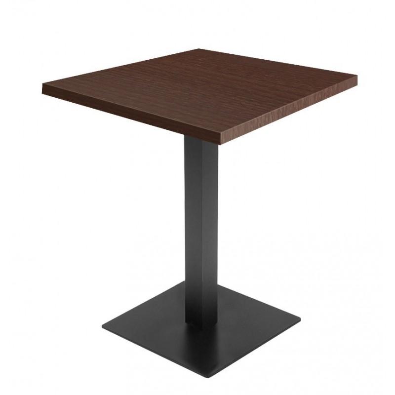 Table de restaurant wenge 70 base ultra plat avec plateau carr gastromastro group sas - Plateau de table restaurant ...