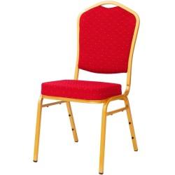 Chaises rouge mouchete de banquet et hotel
