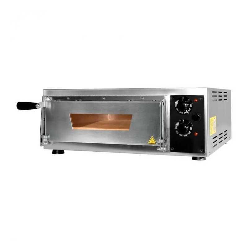 Four pizzas professionnel électrique - Made in Italy - Thermostat 350 °C - Paiement 4X - 1 x 34 cm