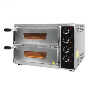 Four pizzas professionnel électrique - Made in Italy - Thermostat 350 °C - Paiement 4X - 2 x 34 cm