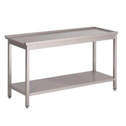 Table de sortie en inox - Egouttoir 800 mm pour lave-vaisselle capot