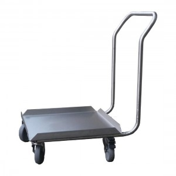 Chariot inox - pour casiers de lavage - 500 x 500 mm