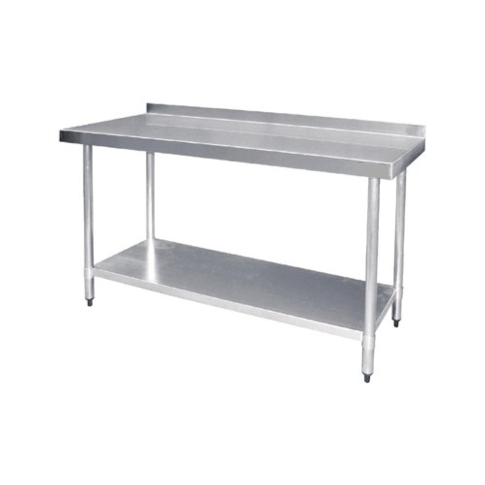 Table inox adossée  - AISI 430 -  1500 (L) x 600 (P) x 900 (H) mm