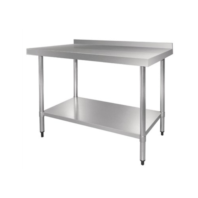 Table inox adossée - AISI 430 -  1200 (L) x 700 (P) x 900 (H) mm