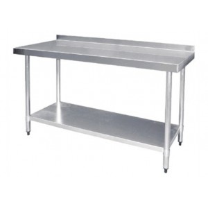 Table inox adossée - AISI 430 - 1800 (L) x 600 (P) x 900 (H) mm
