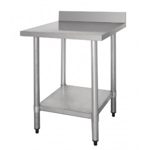 Table inox adossée  - AISI 430 - 600 (L) x 700 (P) x 900 (H) mm