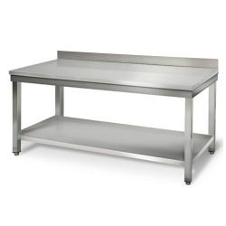 Table inox adossée  - 2000 (L) x 700 (P) x 900 (H) mm