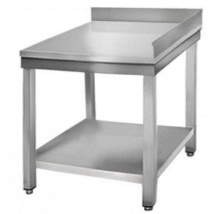 Table Inox Adossee D Angle 600 L X 600