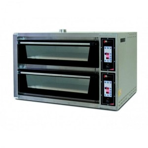 Four pizzas professionnel - LARGE LUX - 230V / 380V - 2 x 4 x 34 cm