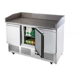 Table réfrigérée pour pizzas - Paiement 4X - Garantie 2 ans - 180L - 3 portes + roulettes - Classe N