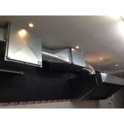 Hotte motorisée - Paiement 4X - 1400 (L) x 900 (P) mm - Variateur inclus