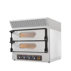 Four pizzas professionnel électrique - 4 pizzas - 230 V. - 4 x 30 cm - équipé d'une hotte d'extraction de fumée