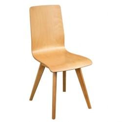 Chaise bistro grise métal avec assise bois
