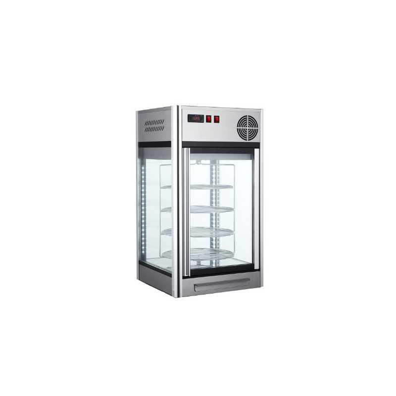 Vitrine réfrigérée panoramique - Paiement 4X - Inox - 108 L - Classe N