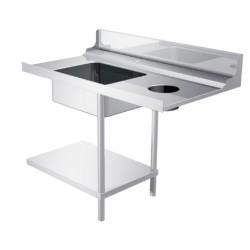Plonge inox/emplacement lave vaisselle - AISI 304 - 1200 (L) x 700 (P) x 855 (H) mm