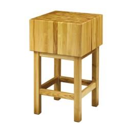 Billot Table de découpe en bois d'acacia - 50 x 50 cm