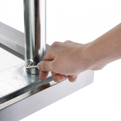 Table inox adossée  - AISI 430 - 600 (L) x 700 (P) x 900 (H) mm