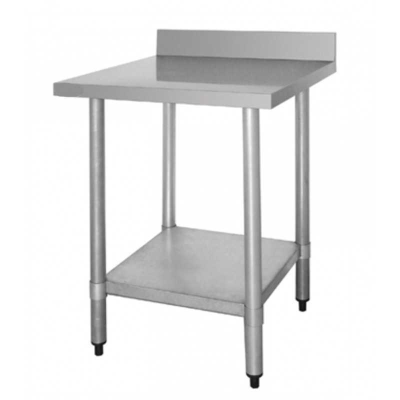 Table inox adossée - AISI 430 - 900 (L) x 700 (P) x 900 (H) mm