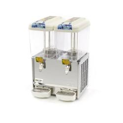 Distributeur réfrigéré - Pour jus de fruit - 2 x 18 L.