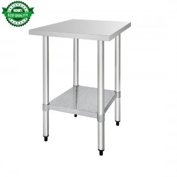 Table inox - Paiement 4X - AISI 430 - 600 (L) x 600 (P) x 900 (H) mm