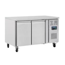 Table réfrigérée positive - Tropicalisée - GN 2/3 - Garantie 2 ans - 282 L. - 2 portes - 1360 (L) x 700 (P) mm - Classe T