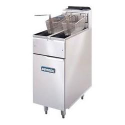 friteuse professionnelle gaz haut rendement 16KW, cuve de 14 litres sur coffre