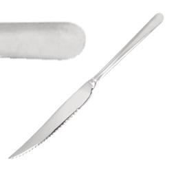 Couteau à pizza / viande - 235 mm - Lot de 12 - Finition miroir - Olympia