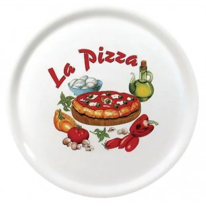 Assiettes à pizza - Saturnia décor La Pizza - Lot de 6 - Ø 310 mm