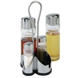 Ménagère complète - Support APS - Huile + vinaigre + salière + poivrier