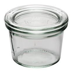 Verrine - 80ml - Lot de 12 - Couvercle en verre
